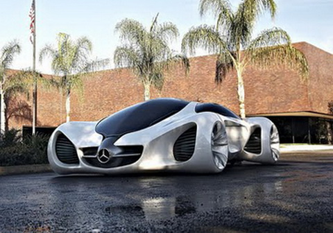the mercedes benz biome would grow in a completely organic environment from seeds sown in a nursery out on the road the car emits pure oxygen - Mercedes Benz Biome Blue
