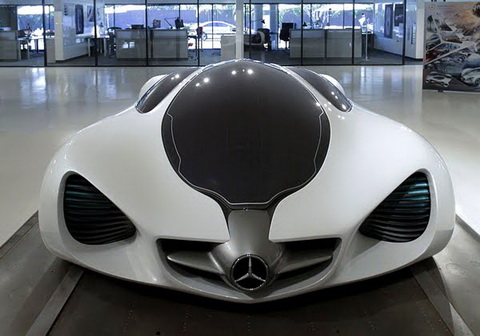 the mercedes benz biome would grow in a completely organic environment from seeds sown in a nursery out on the road the car emits pure oxygen