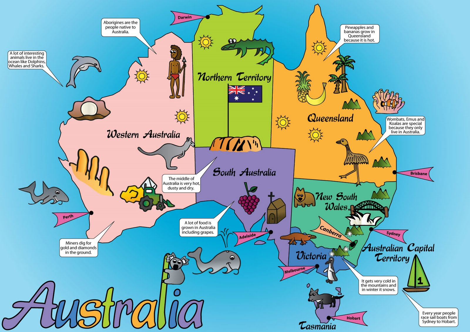Nics Design Blog Australia Map