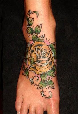 Foot Rose Tattoo Designs