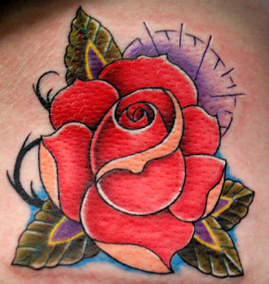 Flower Tribal Rose Tattoo Designs Picture 3