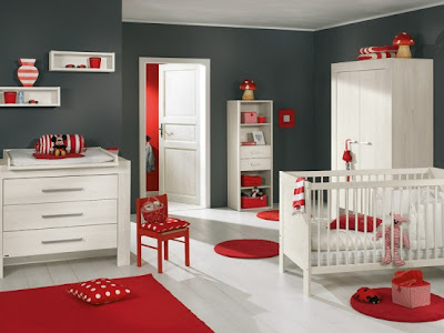 White and Wood Baby Nursery Furniture Sets 3