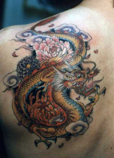 rose tattoos designs. Oriental Dragon Tattoo Designs