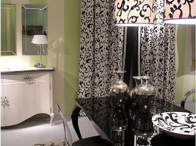 Black  White Bathroom Tile Designs on Black And White Interior   Interior Design   Living Room  Furniture