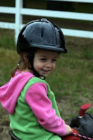 4-Year-Old Wearing Riding Helmet