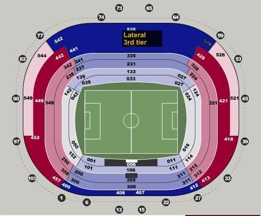 Info biglietti stadi camp now barcellona for Hotel vicino al camp nou