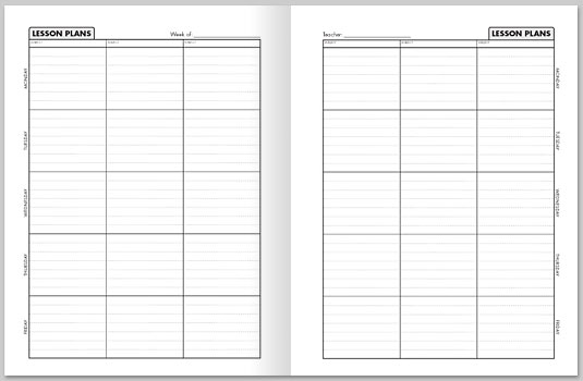 Lesson Plan Book Templates Tolgjcmanagementco - Free printable lesson plan templates
