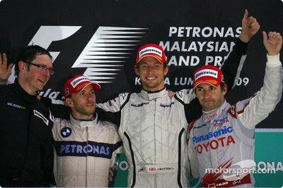 Podio GP Malasia 2009