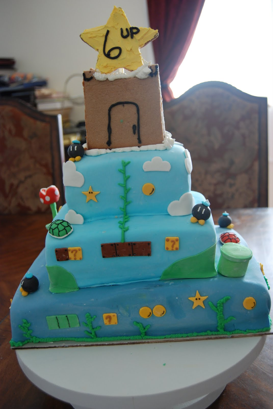 I Burnt Water Super Mario Brothers Birthday Cake