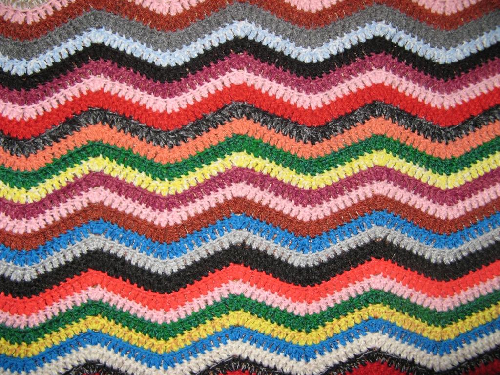 Вязание разноцветная полоска