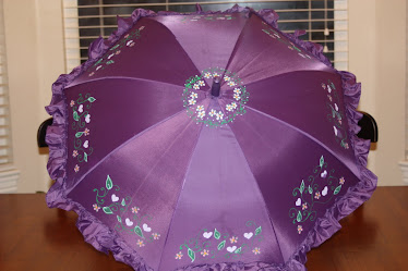 purple vine umbrella