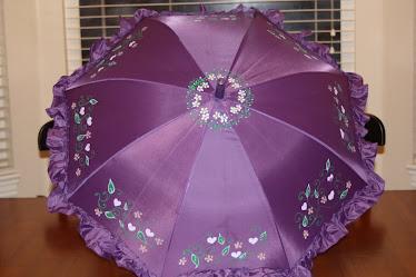 purple vine umbrella