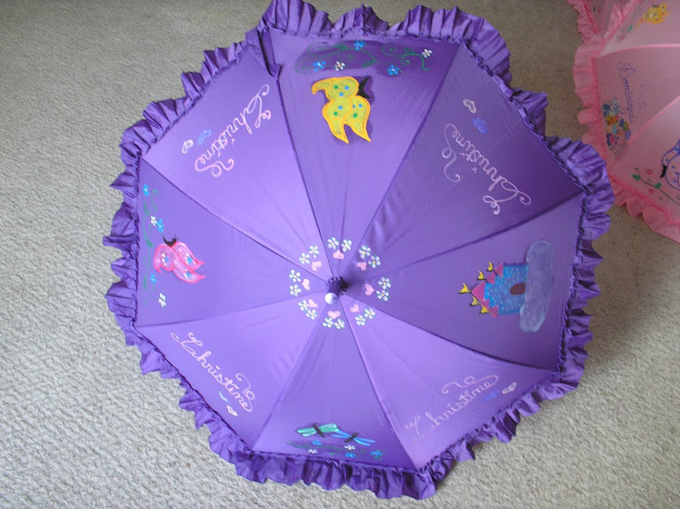 purple butterfly parasol