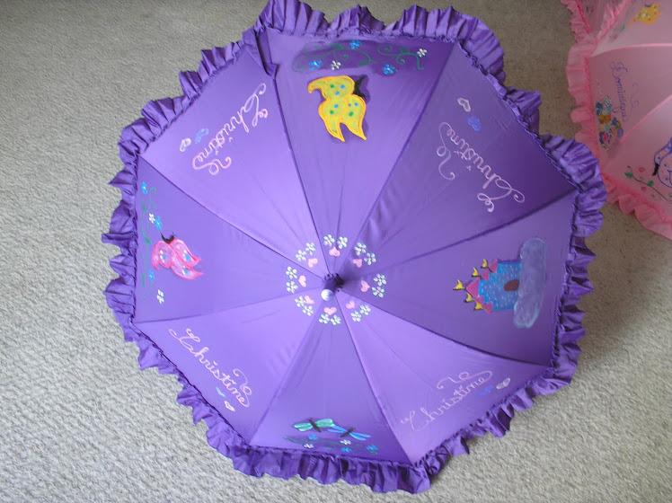 purple butterfly parasol
