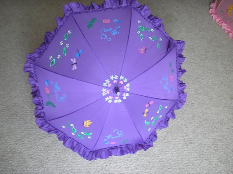 puple umbrella