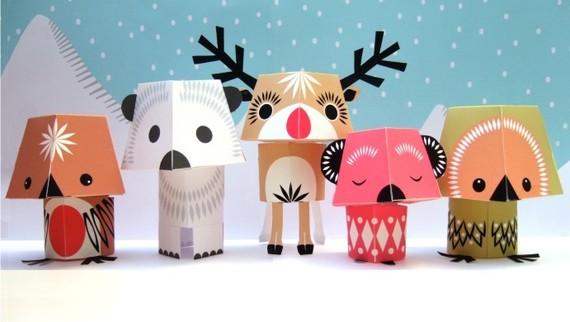 Поделки из цветного картона для детей на новый год