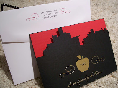 New York Skyline Invitations Lepenn Designs Fabulous Paper Blog