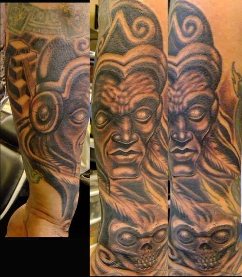 tattoo designs for family aztec warriors tattoo