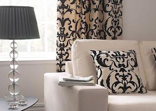 Colores para decorar estancias donde solo se combinan el - Cortinas en blanco y negro ...