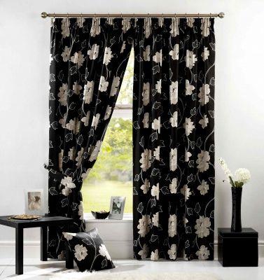 Colores para decorar cortinas para salones en funci n del - Cortinas negras decoracion ...