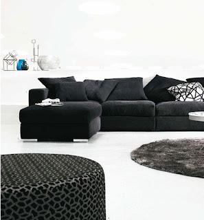 Colores para decorar estancias donde solo se combinan el blanco y el negro gris - Salones con sofa negro ...
