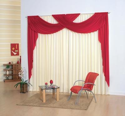 Colores para decorar cortinas con formas originales o con - Decorar muebles con tela ...