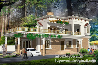 house_pool+villa_3d+rendering+india_3d+modeling+india_bungalow+in