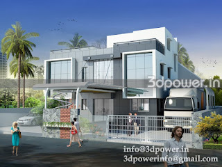 """3d rendering exterior industrial office"""