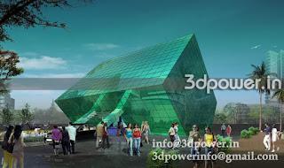"""3d rendering exterior IT park"""