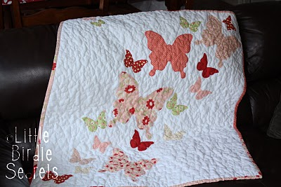BUTTERFLY KISSES BABY GIRL QUILT PATTERN | Sewing Patterns for Baby : butterfly baby quilt pattern - Adamdwight.com