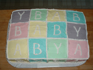 ... word Baby with the blocks on the cake. (they were on the sides too