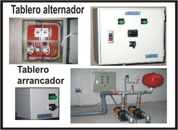 Fabricación de tableros alternadores, arrancadores,  presión constante, contra incendio y otros.