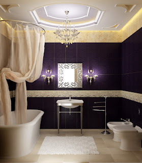 baie stil baroc gama alb violet