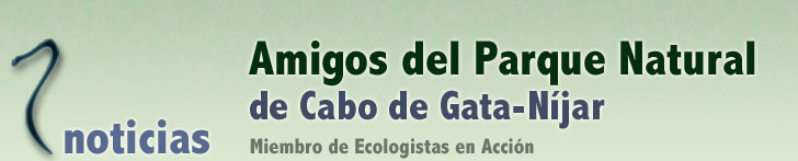 Noticias Amigos del Parque Natural de Cabo de Gata