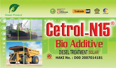 Bio aditif untuk bahan bakar diesel.