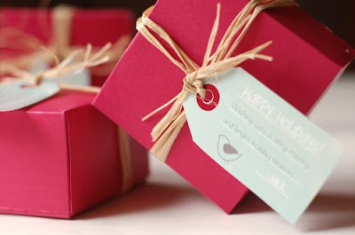 paper boxes and tags for gifts
