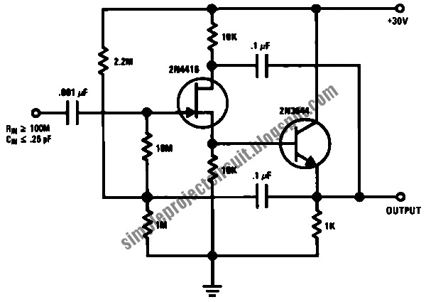 simple project electronic circuit  simple ultra high input