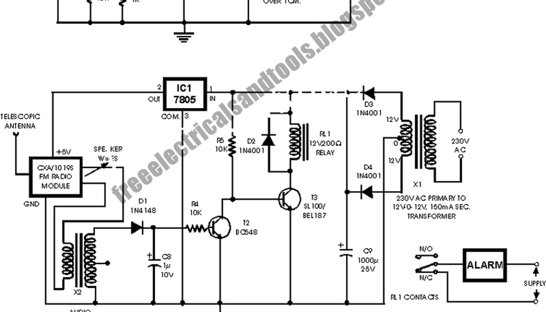 car anti theft wireless alarm circuit