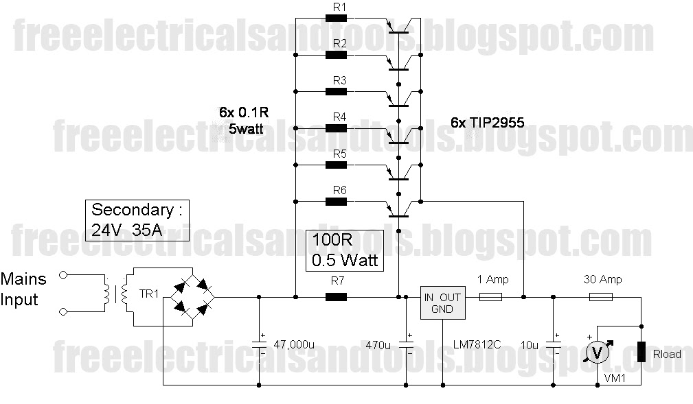 doc] ➤ diagram 12v power supply diagram ebook schematic circuitfree schematic diagram lm7812 using to 12v 30a power supply
