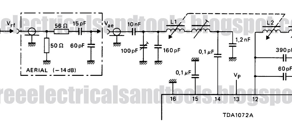 Free Schematic Diagram  Tda1072a For Am Receiver Circuit