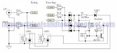 wiring diagram for car audio amp output power limiter circuit rh carwirring blogspot com Home Audio Power Amplifier Speaker Audio Power Meter