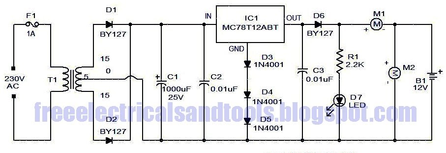 Only Wiring And Diagram  Simple Car Battery Charger