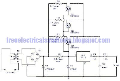 12 v 15a voltage regulator circuit diagram plus guide rh diagramplus blogspot com Series Circuit Diagram Parallel Circuit Diagram