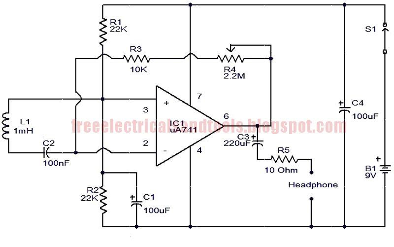 free schematic diagram  electromagnetic sensor circuit