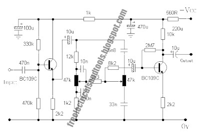 baxandall tone control circuits using two transistor why how diagram rh diagramhow blogspot com