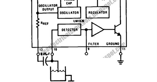 free schematic diagram  water level sensor circuit using lm1830 single chip