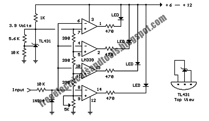 free schematic diagram  cell phone battery meter circuit 3 6 volt