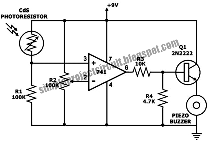 3rd EYE: Simple Light Activated Buzzer Circuit