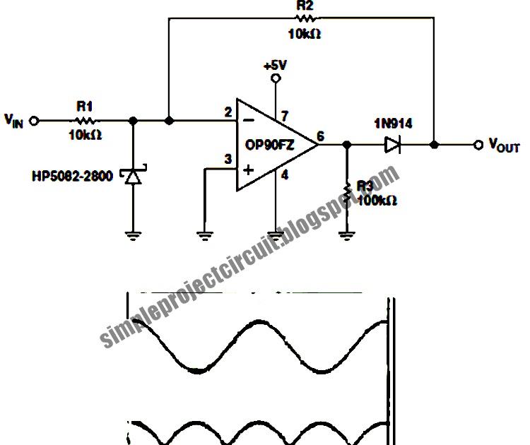 simple project circuit  simple op90 single op amp full