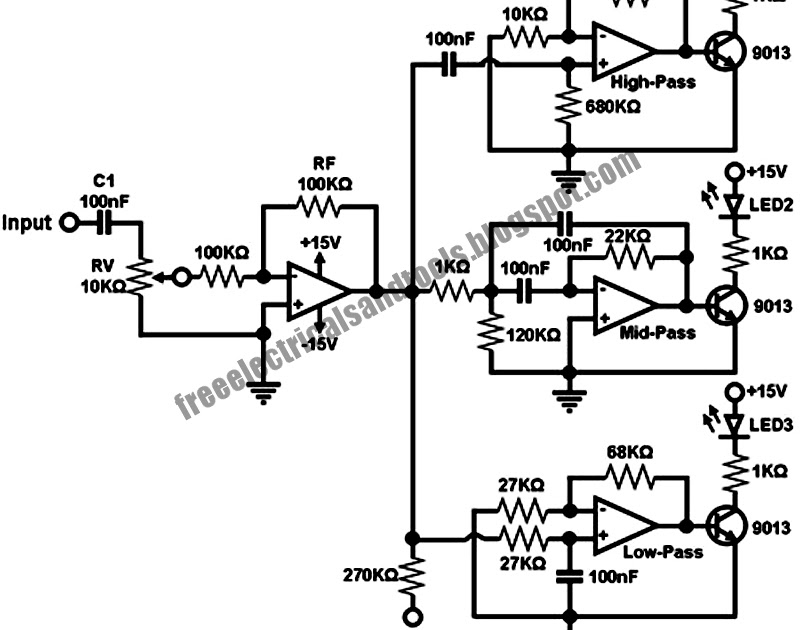 identify diagram  sound to dancing lights converter circuit